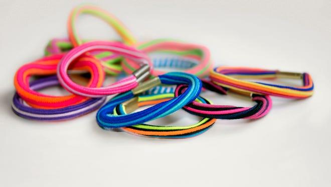 Colorful hair ties.