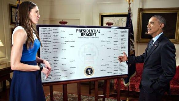 President Barack Obama, who has hosted UConn as national