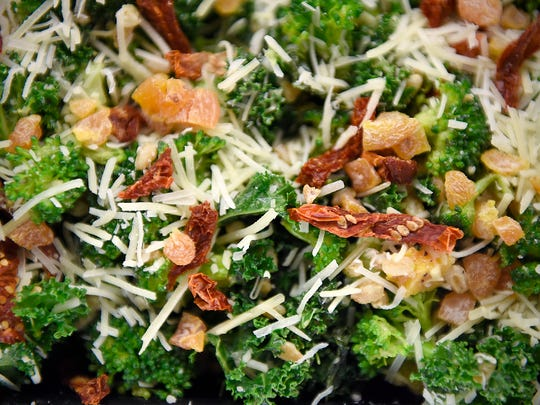 The popular farrout broccoli kale salad in the deli case Tuesday, March 15, at Lunds & Byerlys.