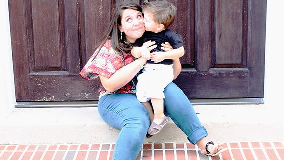 Jessica Thorn with son, Caleb.