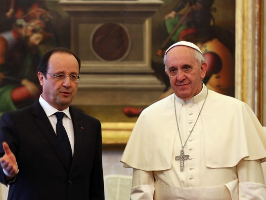 hollande and pope