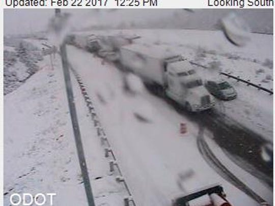 Interstate 5 is closed in Southern Oregon.
