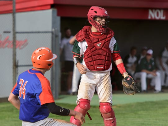 Oak Harbor's Clay Schulte is American Legion Post 114's catcher this summer.