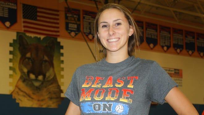 Garden City senior Allie Lynn is an all-around star for the Cougars' volleyball team -- and in the classroom.