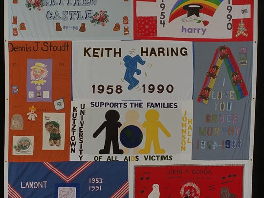 The entire quilt was displayed in Washington, D.C.,