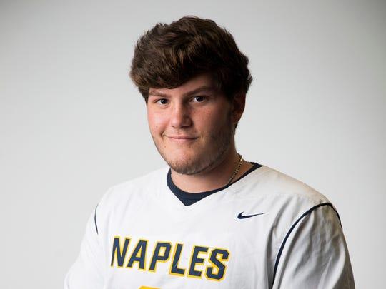 Naples lacrosse goalie Zeb Fuller.