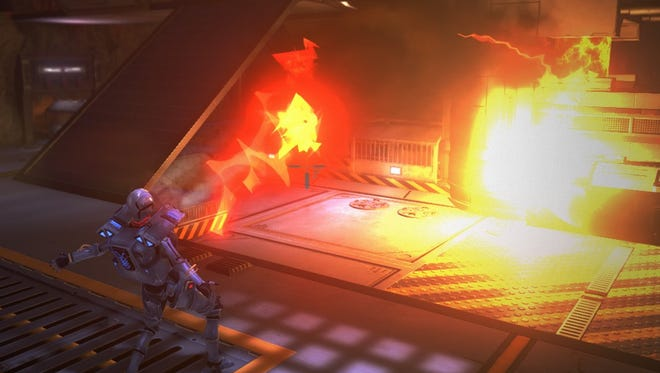A screenshot from the video game Tuebor, which is being developed by Lansing-based Strength in Numbers Studios. The game will incporate evolving AI developed by MSU assistant professor Arend Hintze, which allows it to adapt its strategy to player behavior.
