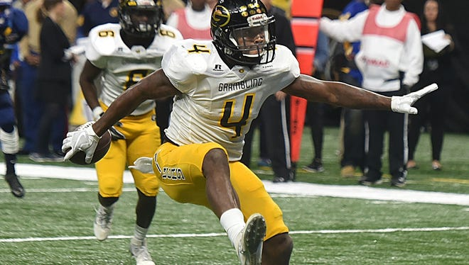 Grambling running back Martez Carter and the Tigers play on ABC in Saturday's Celebration Bowl.