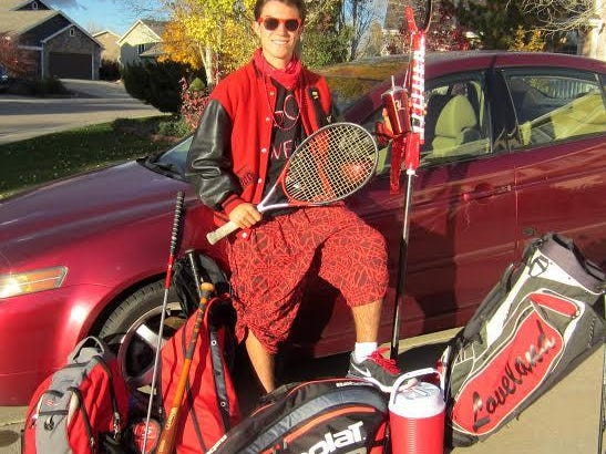Brandon Lindsey, a Loveland High School sophomore, is Northern Colorado's Most Spirited Fan, based on public nomination and voting.
