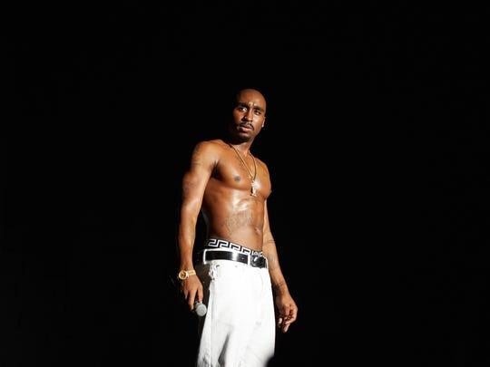 "Demetrius Shipp Jr. plays iconic rapper Tupac Shakur in ""All Eyez on Me."""