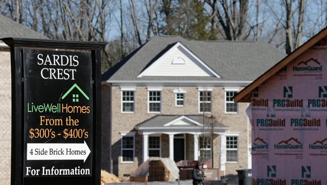 New homes under construction are shown for sale in Charlotte, N.C.