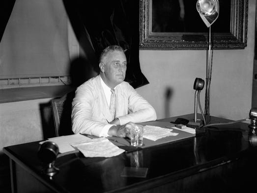 """In a rundown of the 13 presidents he has known, Rep. John Dingell describes Franklin D. Roosevelt as """"the giant, one of probably the three greatest."""""""