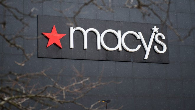 The exterior of a Macy's department store is seen at the Landmark Mall on January 5, 2017, in Arlington, Virginia. Investors hammered retailers early January 5, 2017 as US stocks opened near flat following reports of disappointing holiday sales from department stores Macy's and Kohl's. Macy's slumped 12.8 percent and Kohl's 17.2 after both reported lower sales in the critical November-December period. Macy's also said it plans to cut as many as 10,100 jobs in a response to the decline of shopping in stores due to the rise of e-commerce.  / AFP PHOTO / Andrew CABALLERO-REYNOLDSANDREW CABALLERO-REYNOLDS/AFP/Getty Images ORIG FILE ID: AFP_JM6T0