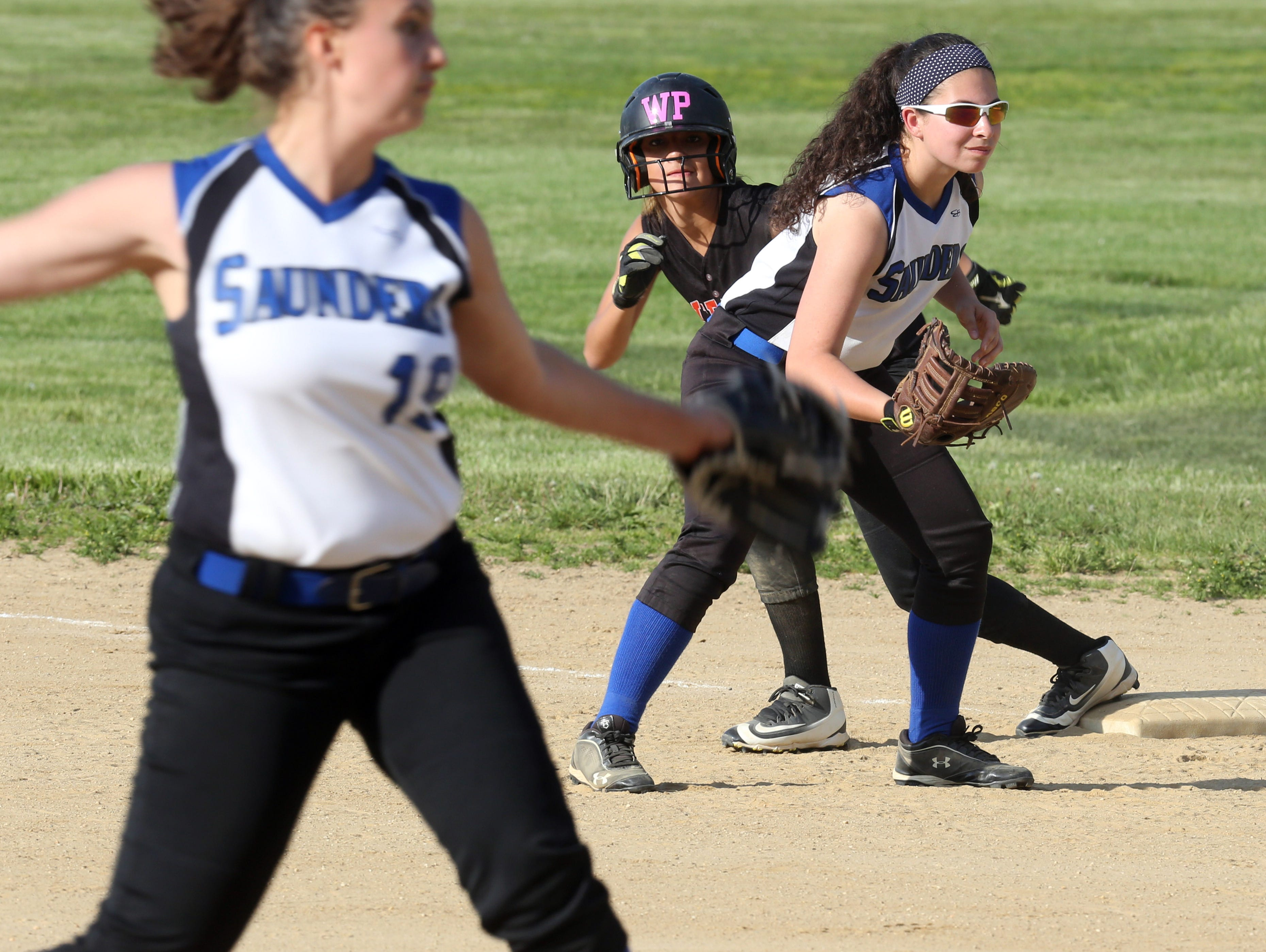 Saunders defeats White Plains 4-2 during Class AA first round playoff softball game at Saunders High School in Yonkers on May 20, 2016.