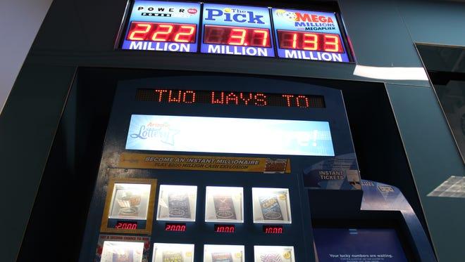One lucky Mesa resident won the $8.4 million Pick jackpot on Christmas Eve, the Arizona Lottery says.
