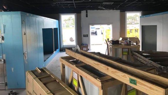 Construction is underway inside of the new Hebert's