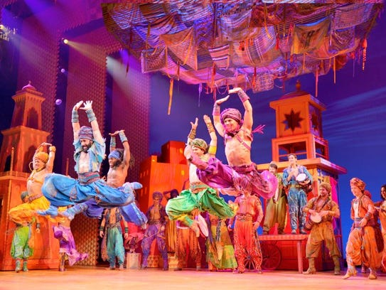 "Disney's ""Aladdin"" heads Nov. 28-Dec. 9 to the Des Moines Civic Center as part of the 2018-19 Willis Broadway Series."