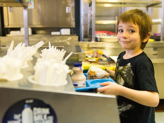 A student grabs lunch at the Sussex Consortium in Lewes on Friday, January 8th.