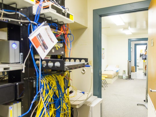 A repurposed storage room contains both a nurses office