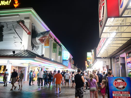 The Ocean City Boardwalk saw a large crowd of people