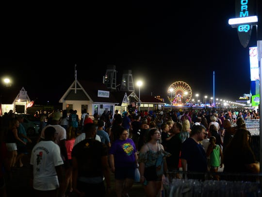 A large crowd packed the Ocean City Boardwalk on Friday,