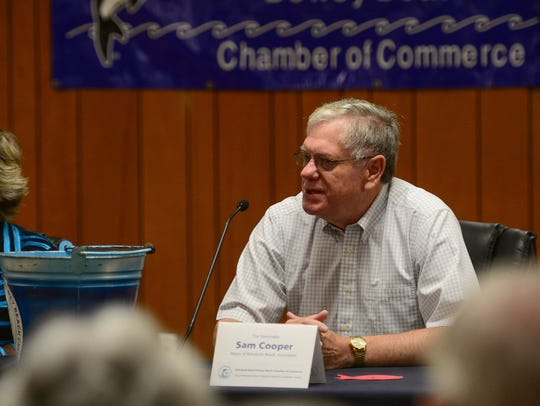 Current Rehoboth Beach Mayor Sam Cooper answers questions