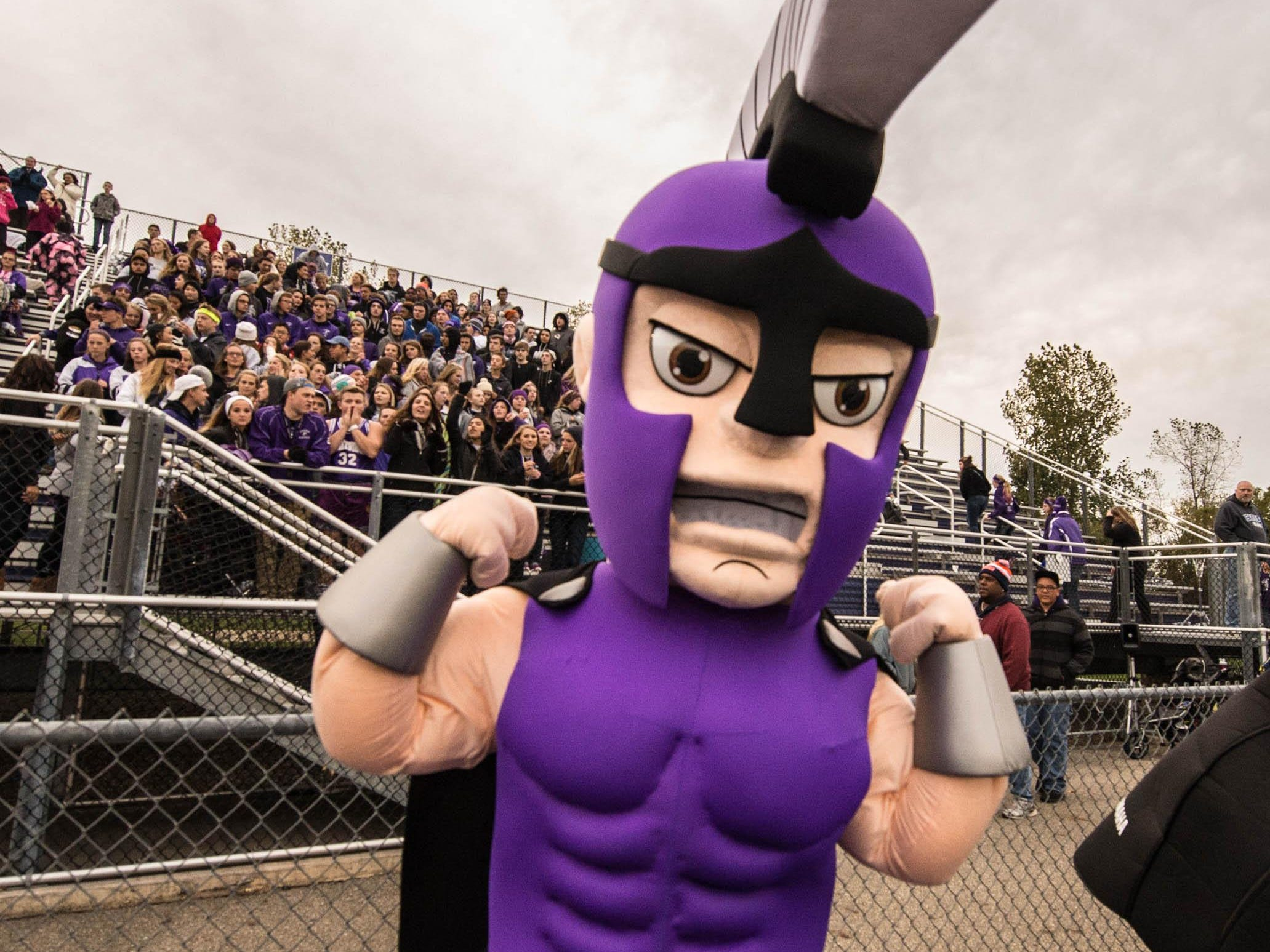 Lakeview's mascot at Friday evening game.