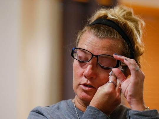 Julie Oziah-Gideon becomes emotional as she talks about her daughter Samantha Huntley, who died of a heroin overdose on Sept. 3.