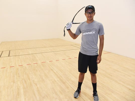 Poughkeepsie racquetball player