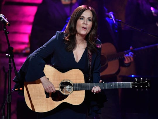 Lori McKenna performs at the 2017 Americana Music Honors & Awards at the Ryman Auditorium. McKenna leads this year's Americana awards field with three nominations.