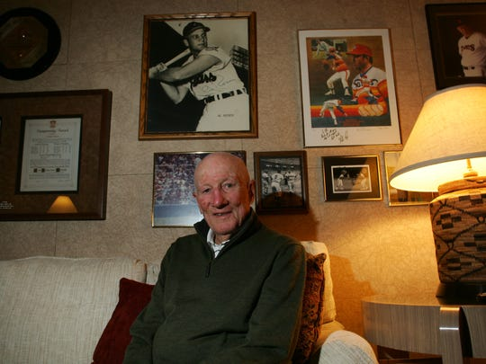 Former Cleveland Indian Al Rosen is pictured at his home in Rancho Mirage on Jan. 11, 2011. Rosen died Friday night at the age of 91.