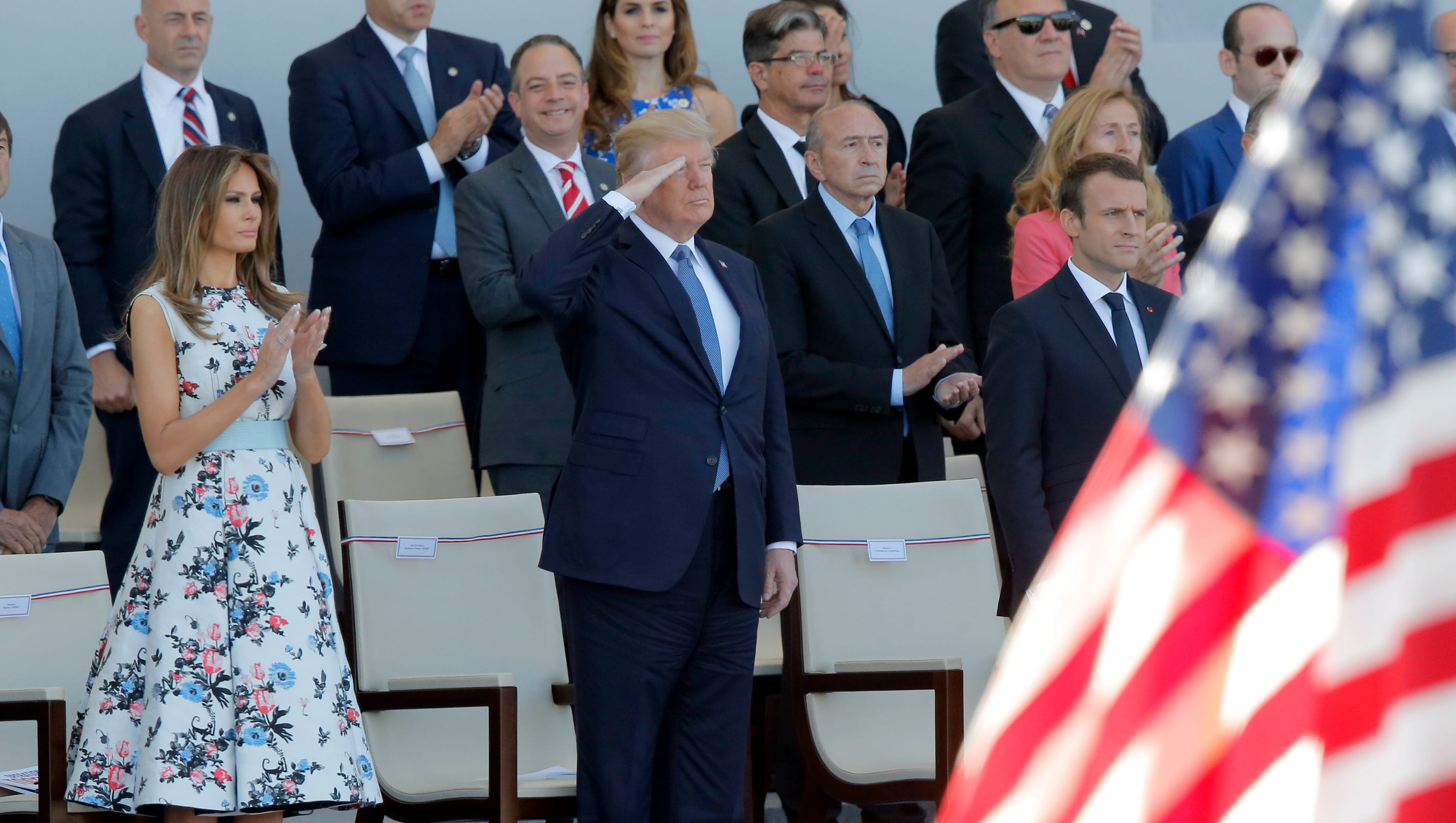 Paris puts on a dazzling Bastille Day display for President Trump