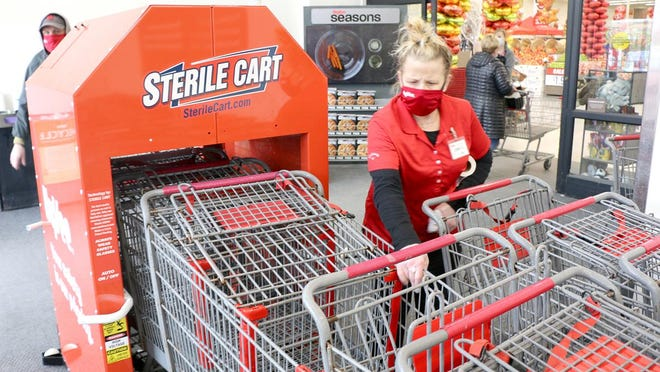 Hy-Vee is installing a new cart sanitizing system in the majority of its locations this November.
