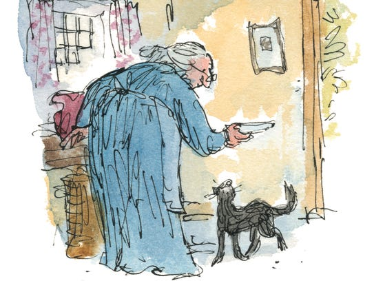 'Tale of Kitty-in-Boots' by Beatrix Potter with illustration