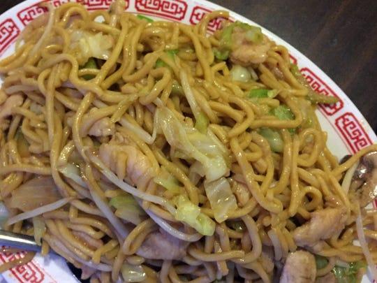 Chicken Chow Mein at Golden China Restaurant, Salinas