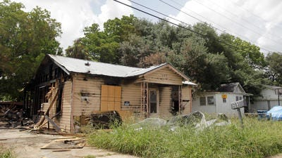 This vacant house in the 200 block of Dolese Street, Lafayette, was damaged by an intentionally-set fire in June.