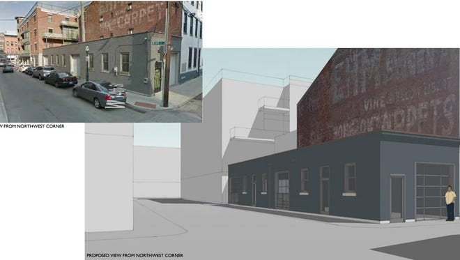 A rendering of the proposed Genius cafe and bar planned at 1332 Republic St.