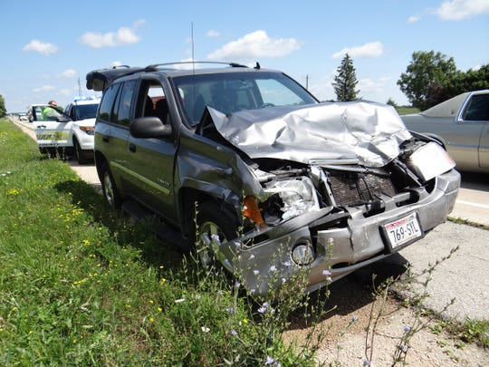 Mark DeHeck failed to slow down and crashed into the vehicle in front of him.