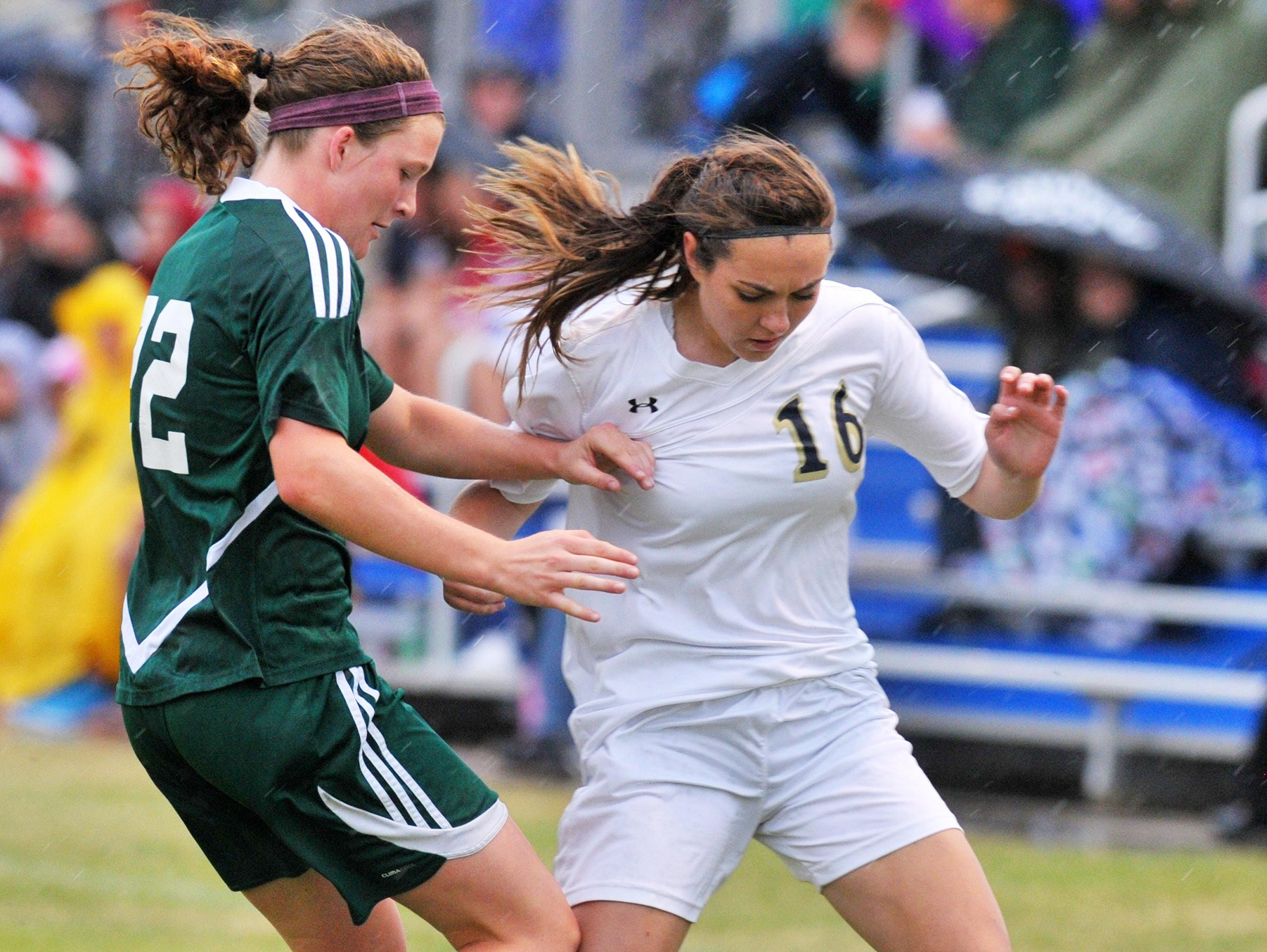 D.C. Everest senior Gabi Kitchell, left, helped lead the Evergreens to their first WIAA Division 1 state title this spring. She has been named the Gannett Central Wisconsin girls soccer player of the year.