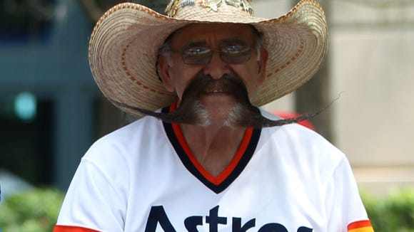 Who's the Houston Astros fan with the bodacious mustache?