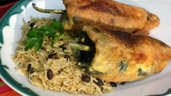 Chili Rellenos make a hearty, healthful meal for Cinco de Mayo.