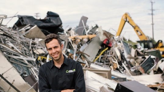 Michael Bassirpour is the president of GLR Advanced Recycling, which just opened a new facility in Battle Creek.