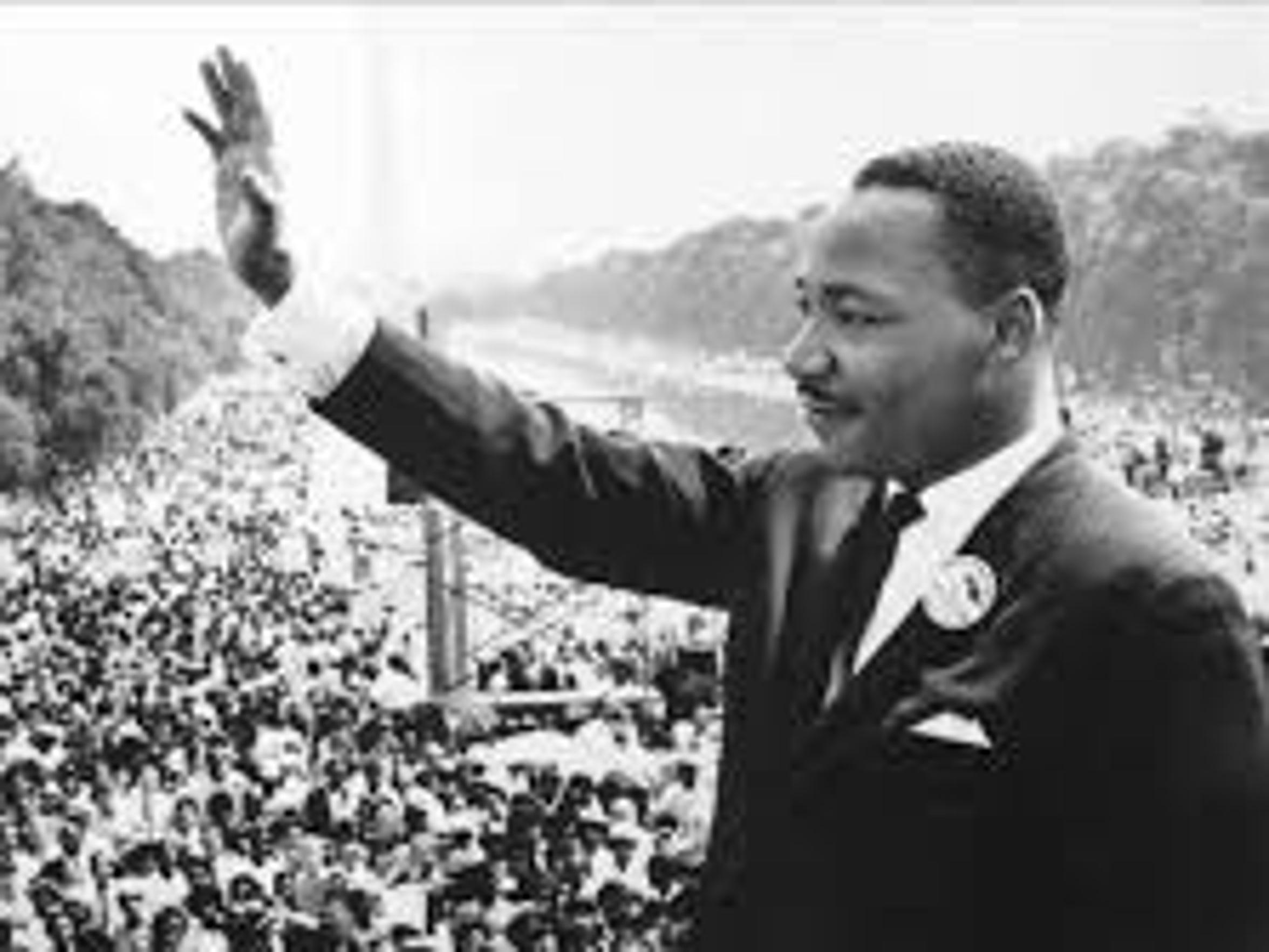 Martin Luther King Jr., spoke at the Washington D.C.,