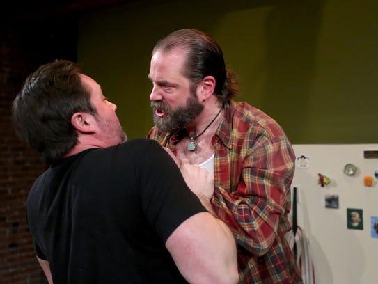 Lance Nuttman, left, as Lee, and Seth Allen, as Austin,