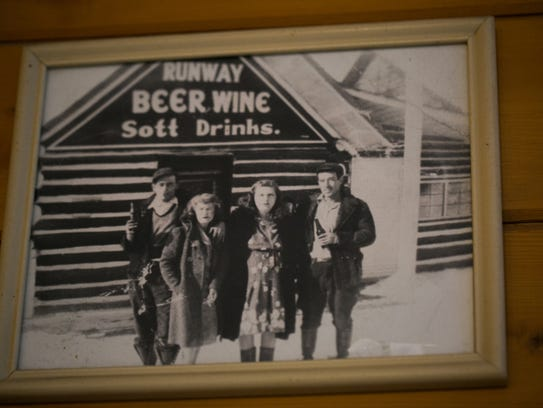 As in many Upper Peninsula bars, historical photos