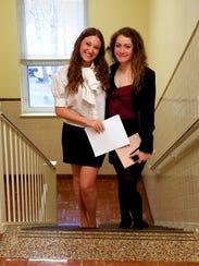Jenna Troyano (left) and Elena Anglani, looking professional