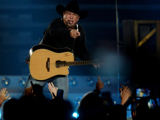 Garth Brooks at his concert Friday evening at the CenturyLink