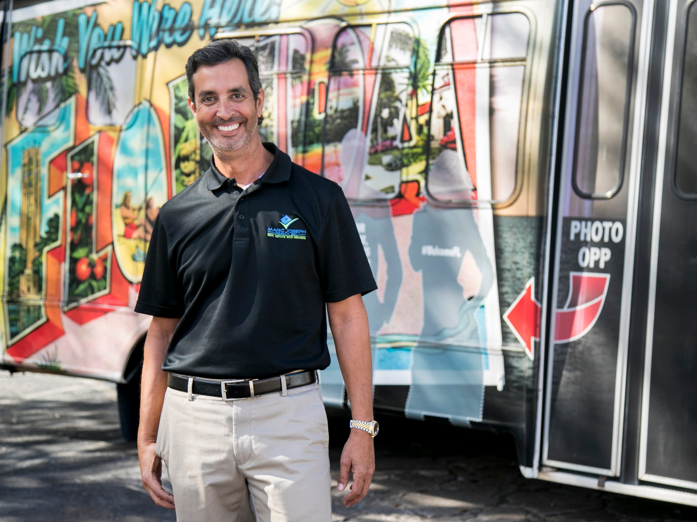 Fort Myers Broker Marc Joseph used to have Foreclosure Tours R Us on the side of his bus. He now has a more positive vibe to match the current real estate market.