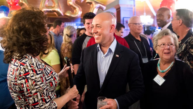 Brian Mast was elected to the U.S. House, District 18 seat, which covers Martin, St. Lucie and part of Palm Beach County. His election night party was held in Stuart on Tuesday.