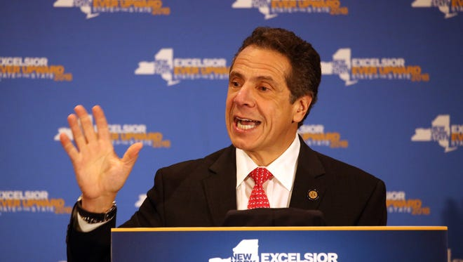 Gov. Andrew Cuomo spoke on a range of issues at Marist College in Poughkeepsie on Feb. 22.